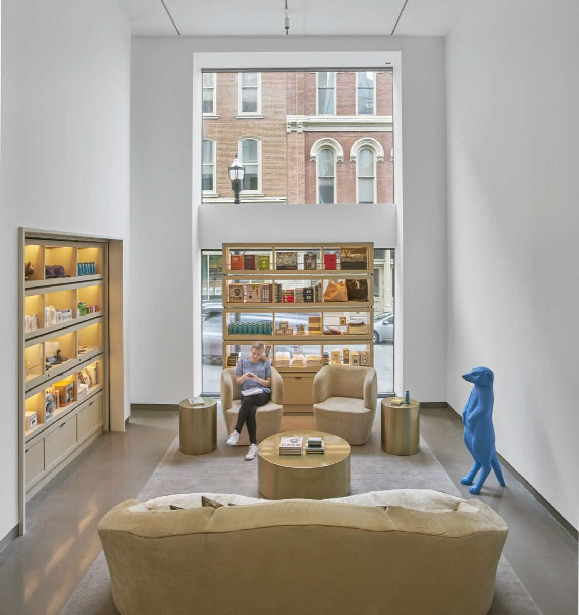 Lobby retail shop at 21c Nashville. Photo by Mike Schwartz. Courtesy of 21c Museum Hotels.