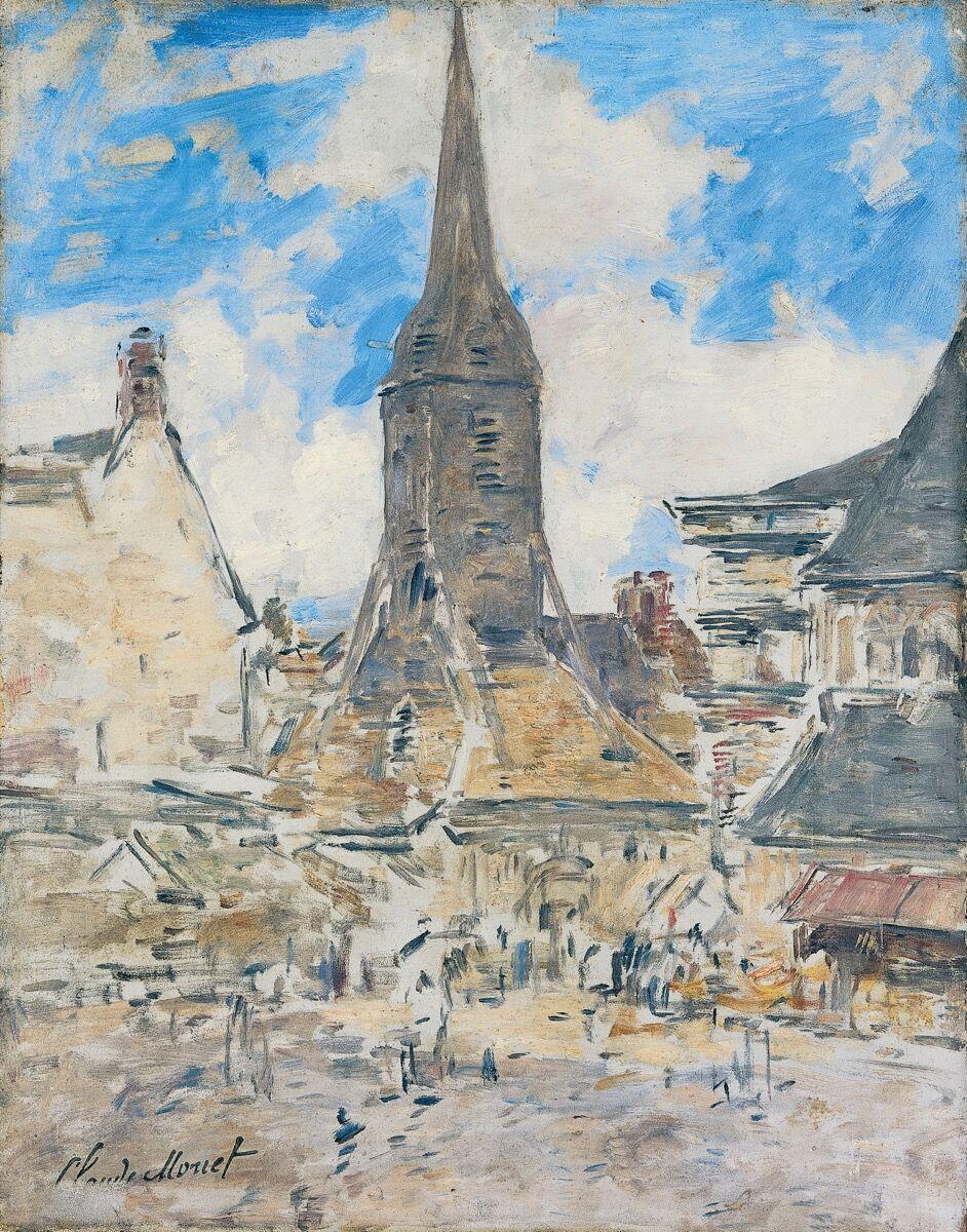 Eugène Boudin, Le Clocher de Sainte-Catherine, Honfleur, ca. 1897. ©Henri Brauner. Courtesy of Musée Marmottan Monet.