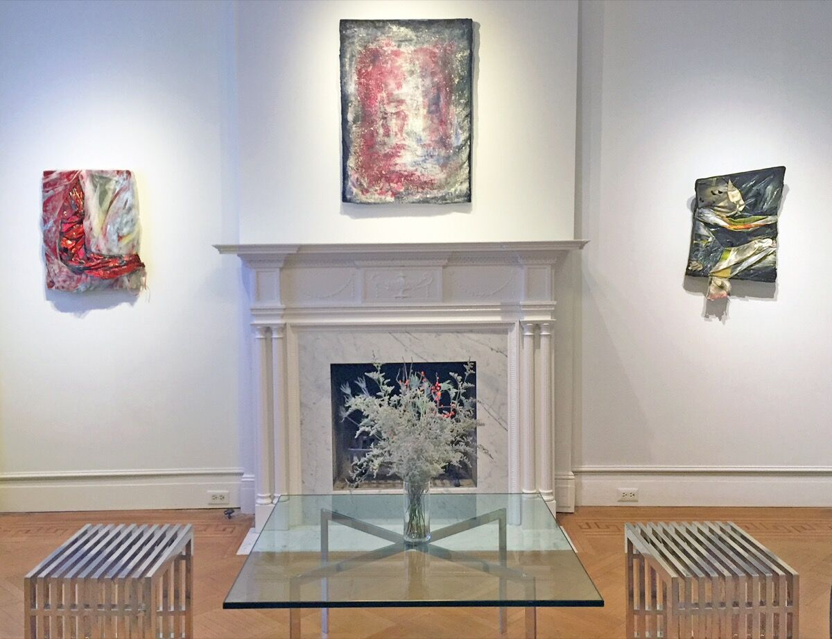 Works by Vaughn Spann at Jenkins Johnson Gallery. Courtesy of the artist and Jenkins Johnson Gallery.