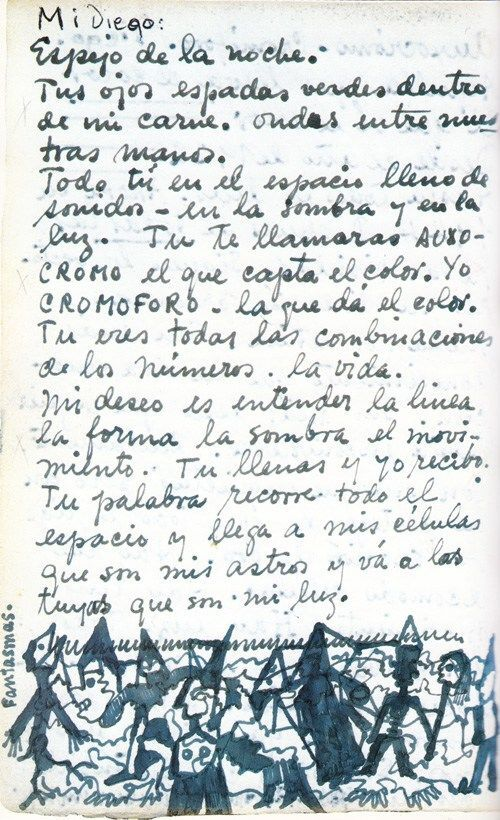 Letter from The Diary of Frida Kahlo: An Intimate Self-Portrait. © Banco de Mexico Diego Rivera & Frida Kahlo Museums Trust, Mexico, D.F. / Artists Rights Society (ARS), New York.