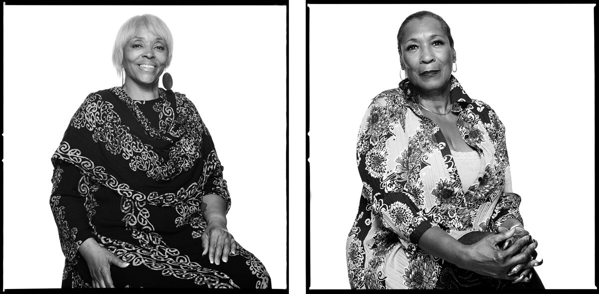 Left: Paula Peebles; Right: Thelma Bunny Davis-Legare. Photographs by Bryan Shih, 2011–2015, courtesy of the artist and Queens Museum.
