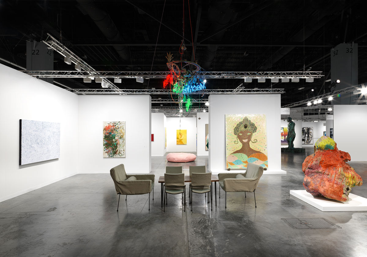 Installation view of David Zwirner's booth at Art Basel in Miami Beach, 2018. Photo by Dan Bradica. Courtesy of David Zwirner.