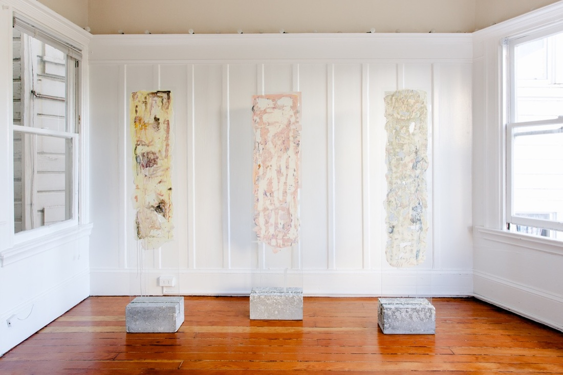 Works by Sarah Ann Weber and Brian Rochefort on display at SOME.TIME.SALON. Courtesy of Anna Nearburg.
