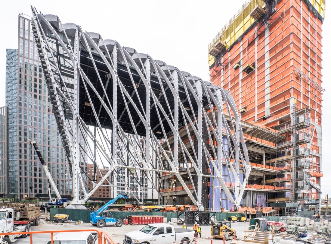 The Shed, under construction (April 2017). Photo by Timothy Schenck. Diller Scofido + Renfro in collaboration with Rockwell Group.