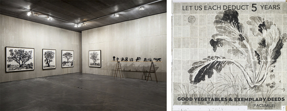 """Installation view of """"William Kentridge: Notes Towards a Model Opera,"""" courtesy Ullens Center for Contemporary Art."""