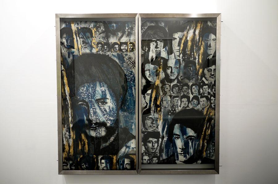 Alfred Tarazi, Left & Right, 2015. Photo courtesy of Galerie Krinzinger.