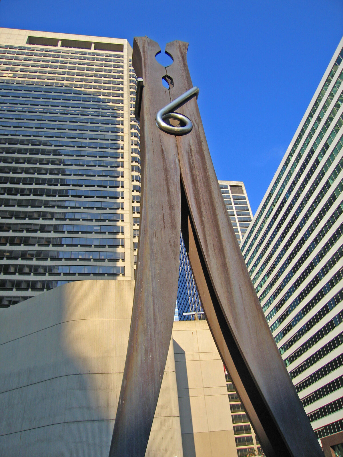 Claes Oldenburg's Clothespin (1976) was created through Philadelphia's Percent for Art program, the oldest in the U.S. Photo: John Vosburgh via Flickr