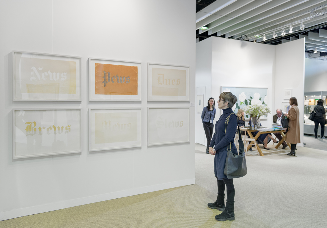 Installation view of Sims Reed's booth at The Armory Show, 2016. Photo by Adam Reich for Artsy.