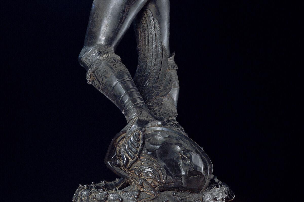 Detail of Donatello, David, 1428–1432. Photo © Arte & Immagini srl/CORBIS/Corbis via Getty Images.