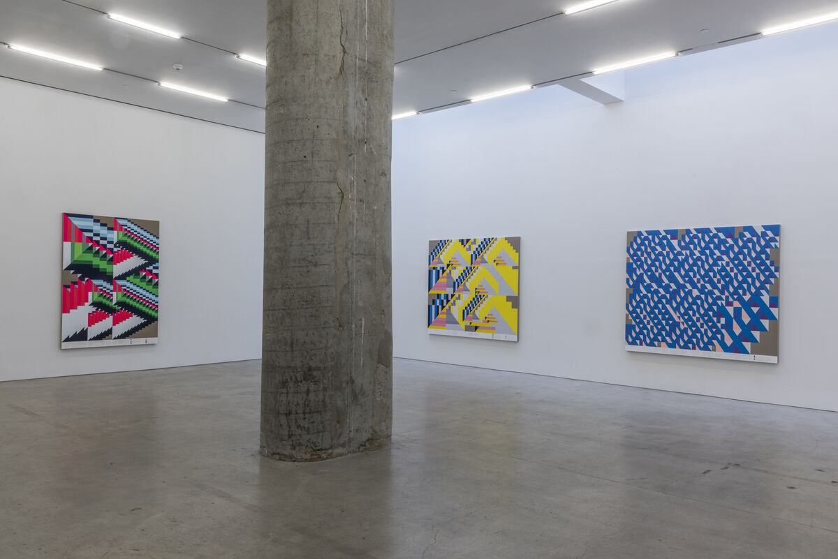 Installation view of Andrew Kuo at Marlborough Chelsea. Images courtesy of the gallery.