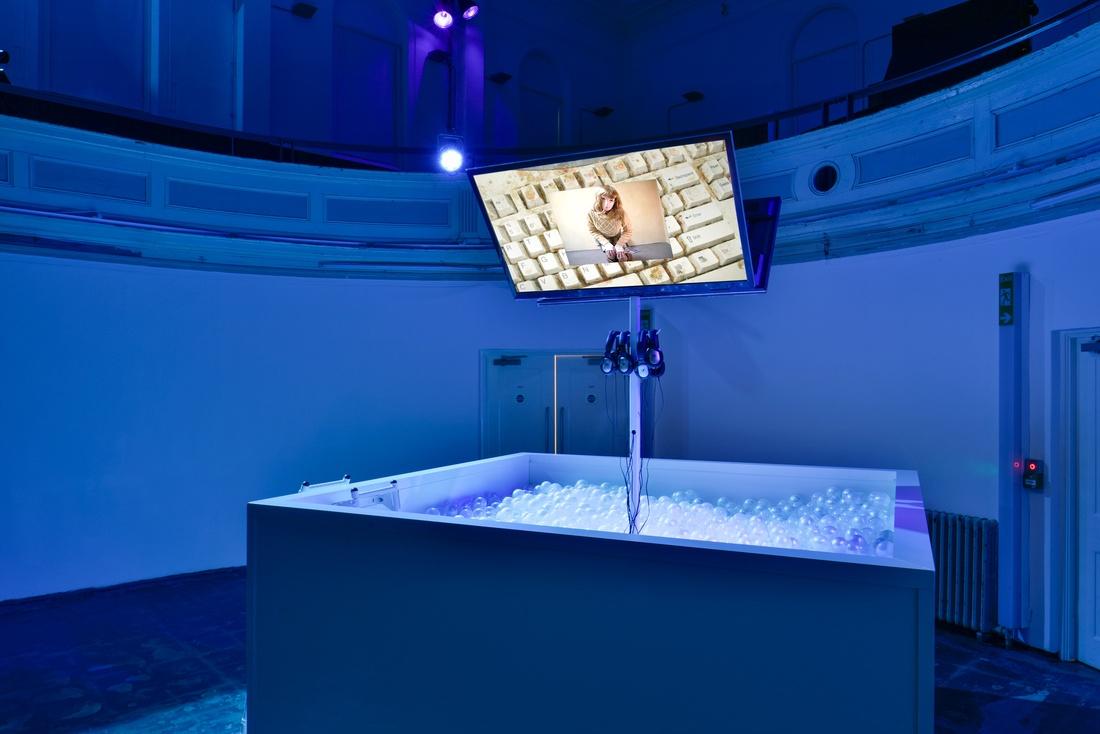 Installation view Jon Rafman, 2015 at Zabludowicz Collection, London. Photo by Thierry Bal.