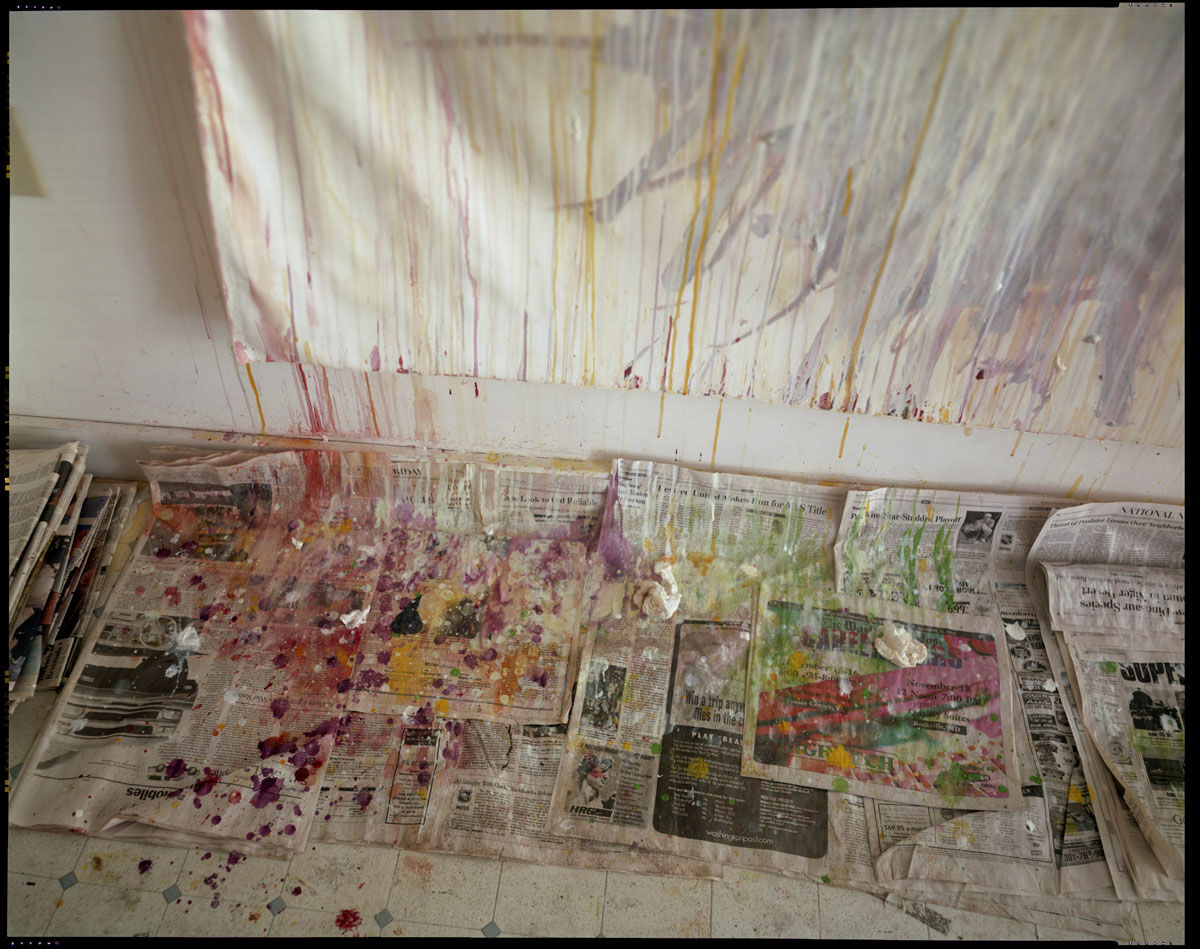 Sally Mann, Remembered Light, Untitled (Drips and Newspaper), 1999. © Sally Mann. Courtesy Gagosian Gallery.