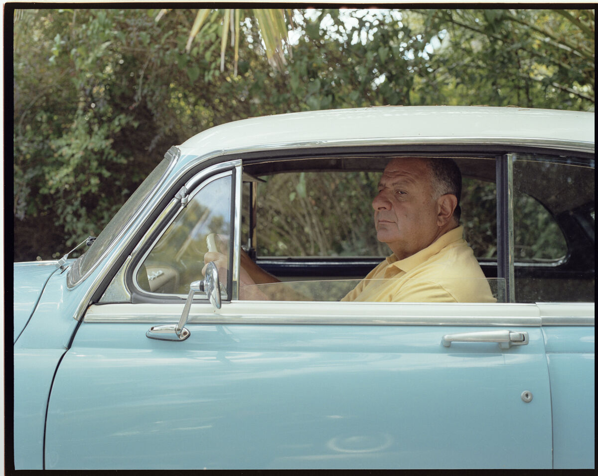 Photo of Jean Pigozzi at his home in Cap d'Antibes by Victor Picon for Artsy.