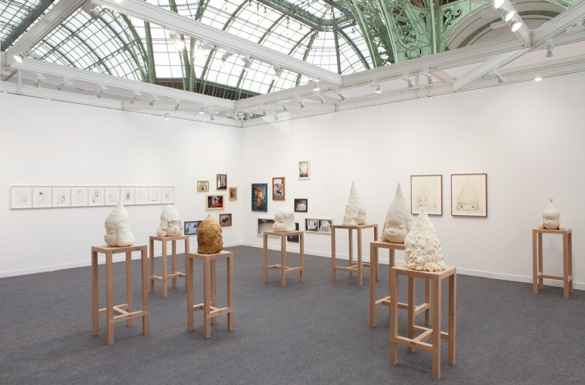 Installation view of Blum & Poe's booth at FIAC, 2016. Artwork: © Yoshitomo Nara. Courtesy of Blum & Poe, Los Angeles/New York/Tokyo.