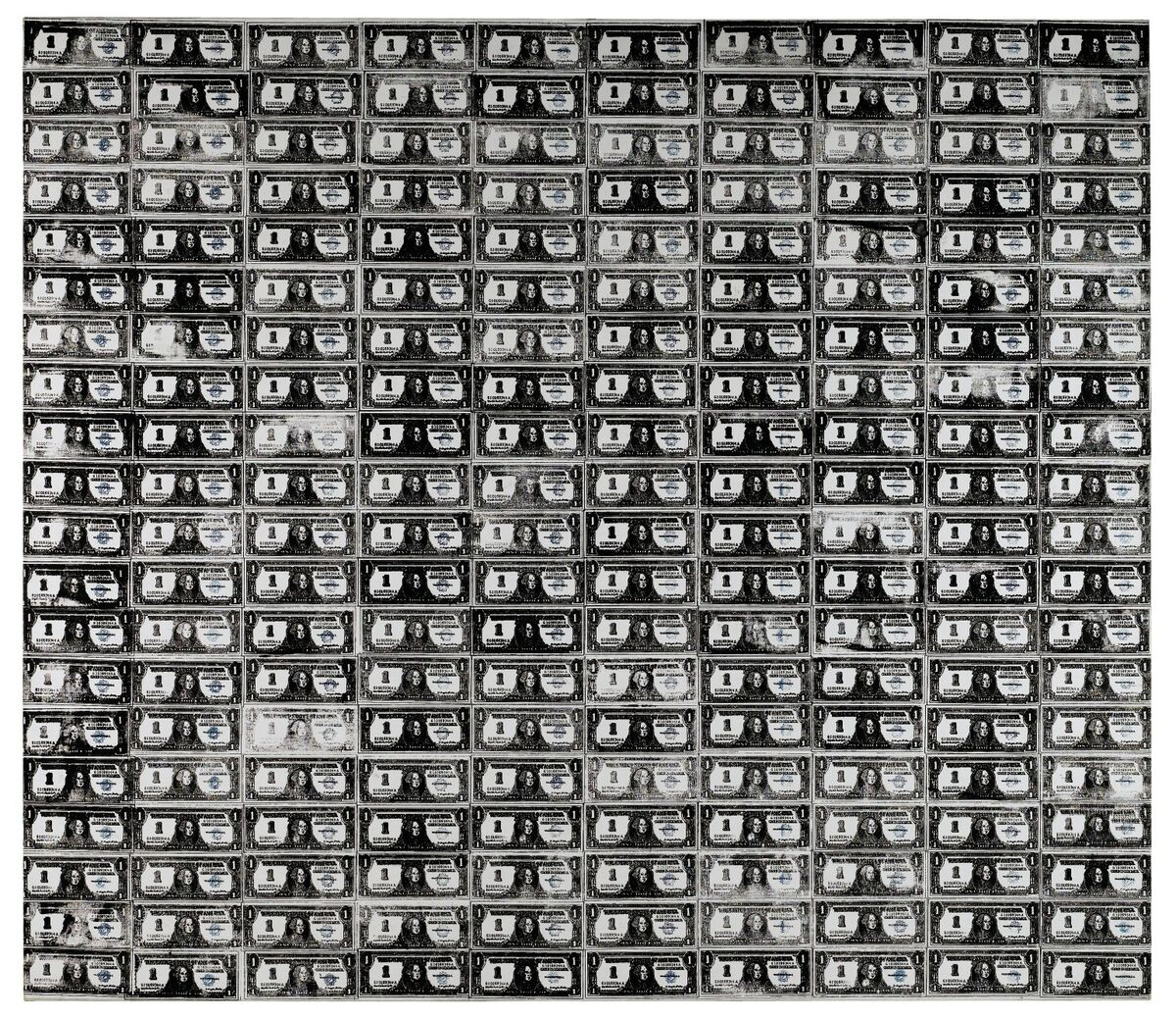 Andy Warhol, 200 One Dollar Bills, 1962. Courtesy of Sotheby's.