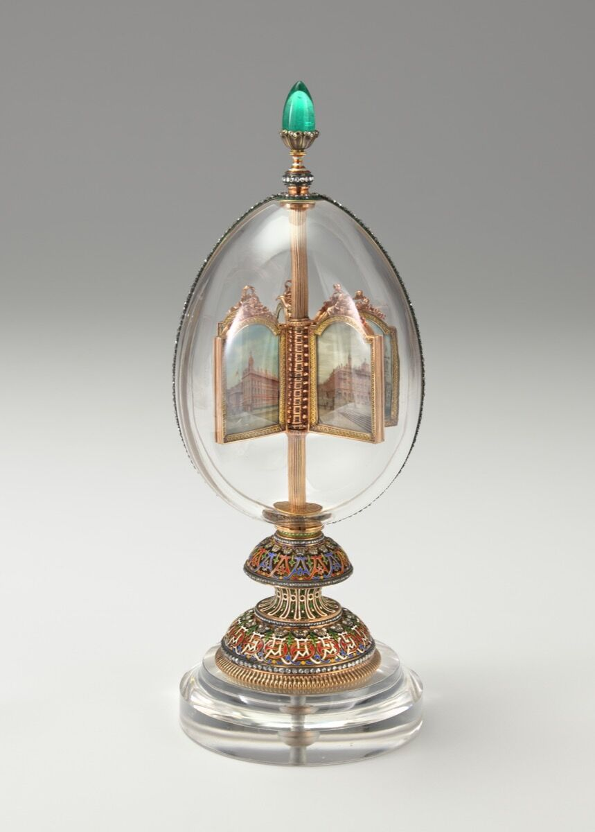 Fabergé firm (Russian). Imperial Rock Crystal Easter Egg, 19th century. Photo by Virginia Museum of Fine Arts. Courtesy of Virginia Museum of Fine Arts.