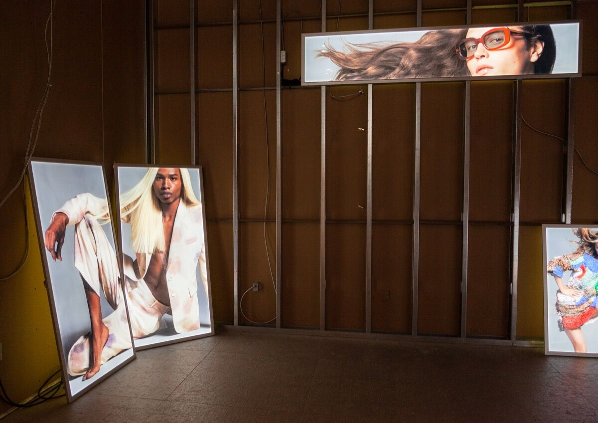 """Installation view of """"Eckhaus Latta: Possessed"""" at the Whitney Museum of Art, New York, 2018. Photo by Thomas McCarty. Courtesy of the Whitney Museum of Art."""