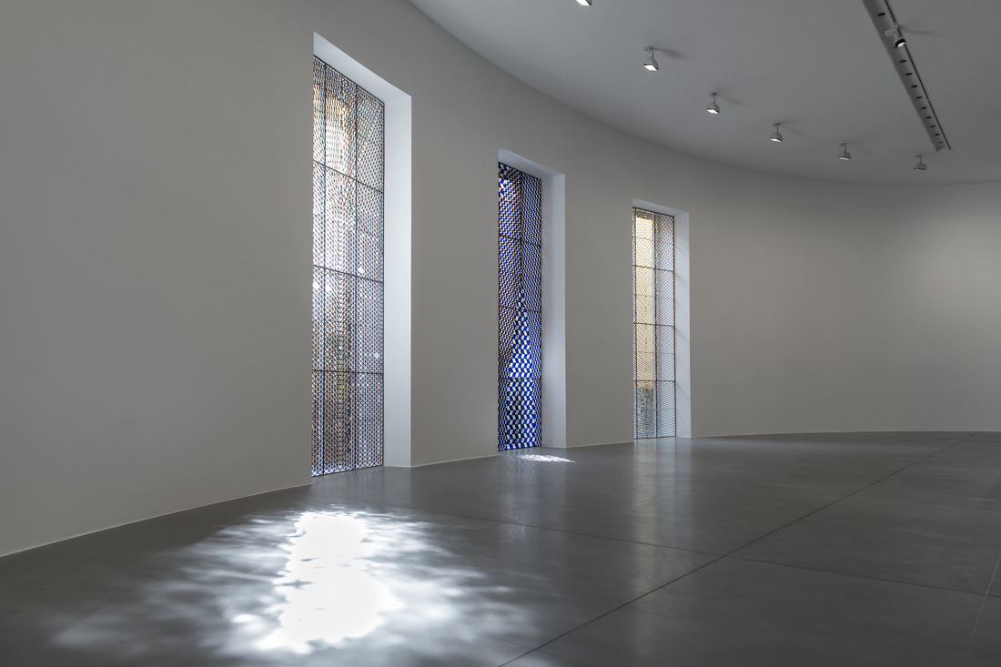 Installation view of Richard Wright at Gagosian Gallery, Rome. © Richard Wright.Photo by Matteo D'Eletto M3 Studio.Courtesy the artist and Gagosian Gallery.