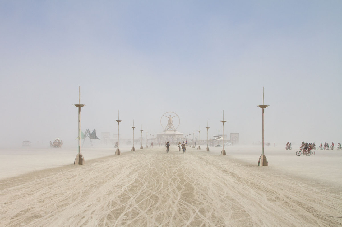 Inspired by Leonardo DaVinci'sVitruvian Man, this year's 80-foot-tall center point to the Burning Man event also housed a pavilion with interactive installations demonstrating various art forms from the Renaissance.