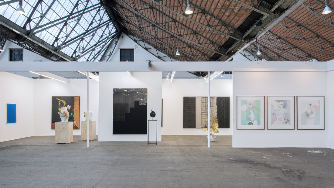 Installation view of Galiere Rodolphe Janssen's booth at Art Brussels, 2016. Photo courtesy of Galerie Rodolphe Janssen.