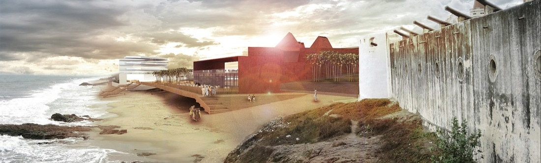 Rendering of Ghana National Museum of Slavery and Freedom, courtesy of Adjaye Associates.