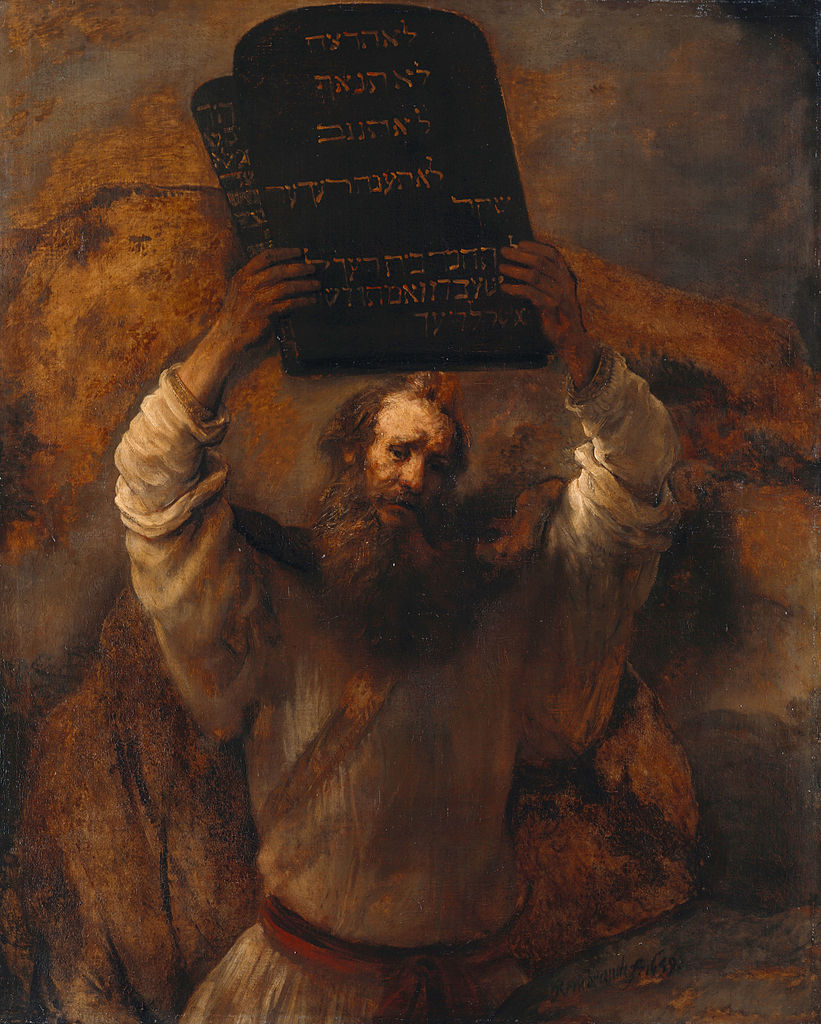 Rembrandt van Rijn, Moses Smashing the Tablets of the Law, 1659. Courtesy of Wikimedia Commons.