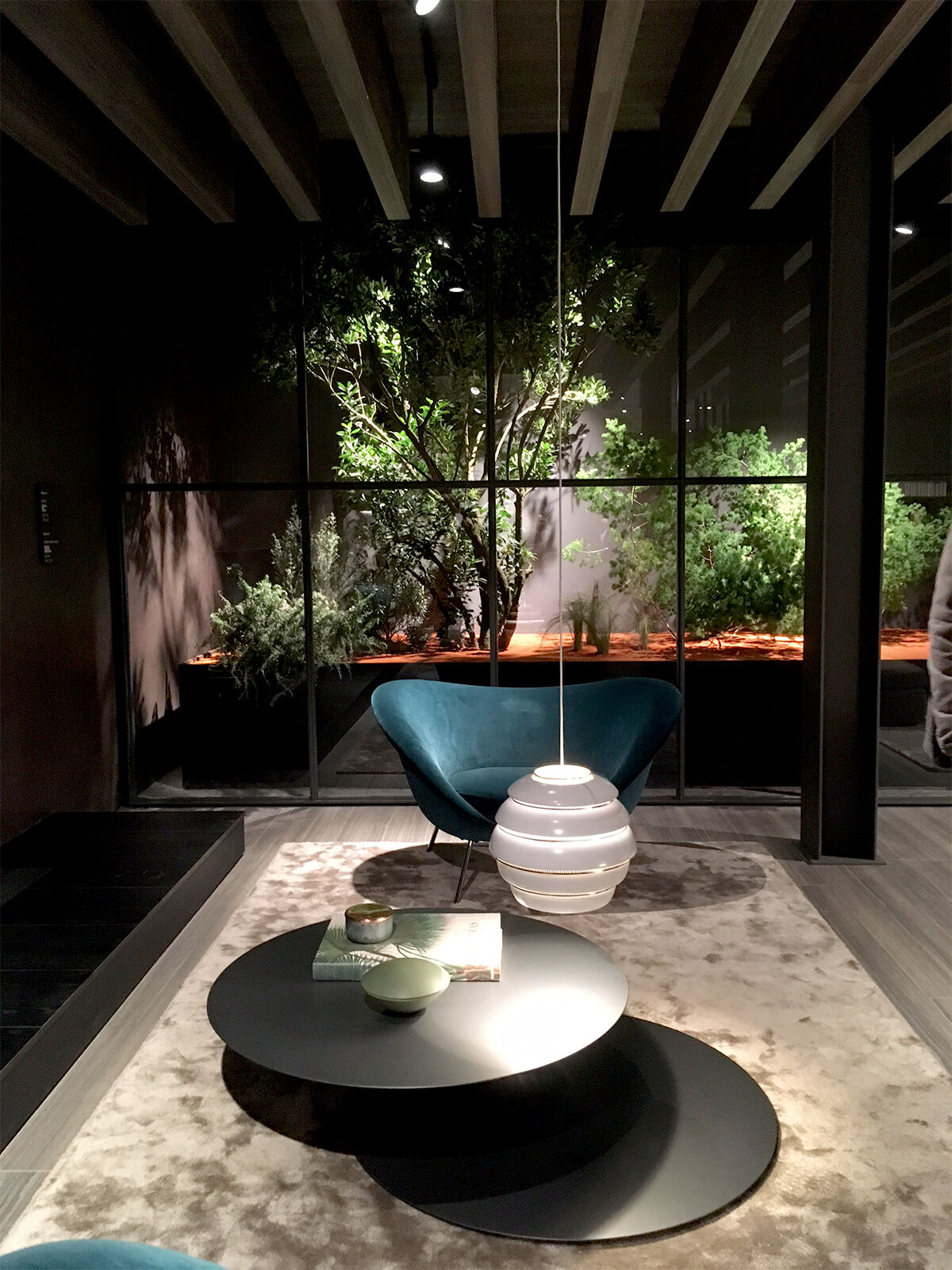 Installation view of Molteni & C's booth at Salone del Mobile.