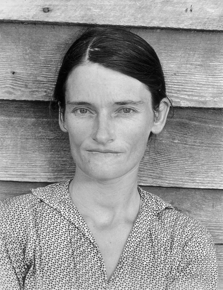 Walker Evans, Allie Mae Burroughs, Wife of a Cotton Sharecropper, Hale County, Alabama, 1936. © Walker Evans Archive, The Metropolitan Museum of Art, New York. Courtesy of SFMOMA.