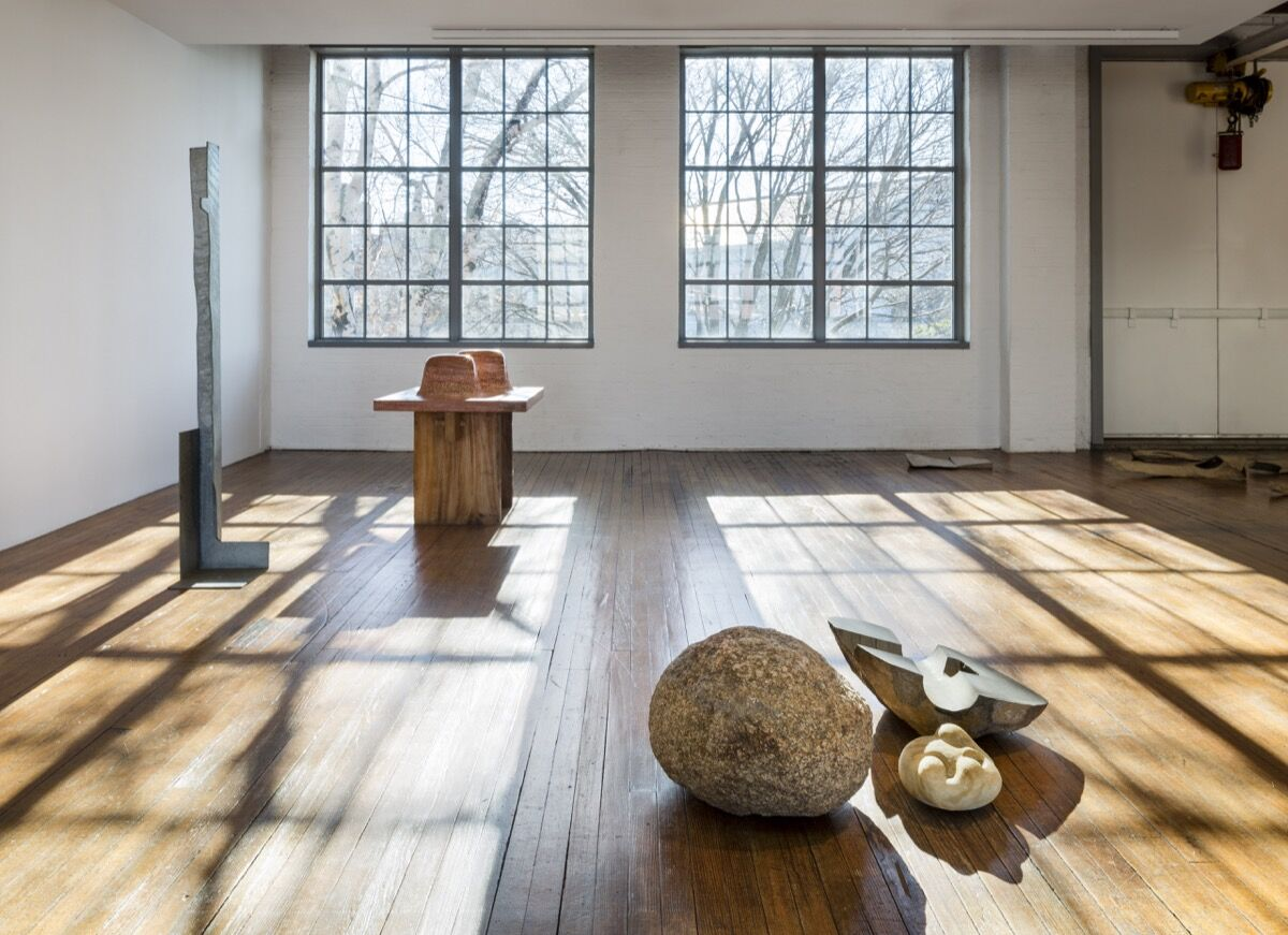 "Installation view of ""Self Interned."" Photo by Nicholas Knight. © The Isamu Noguchi Foundation and Garden Museum, New York/ARS."