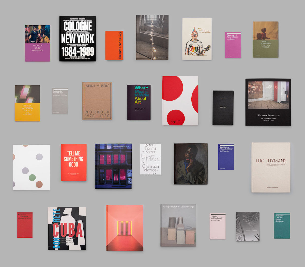 Titles published by David Zwirner Books. Courtesy David Zwirner Books.