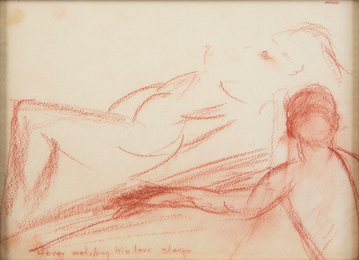 Marilyn Monroe, Lover watching his love sleep, c. 1960. Image courtesy of Julien's Auctions.