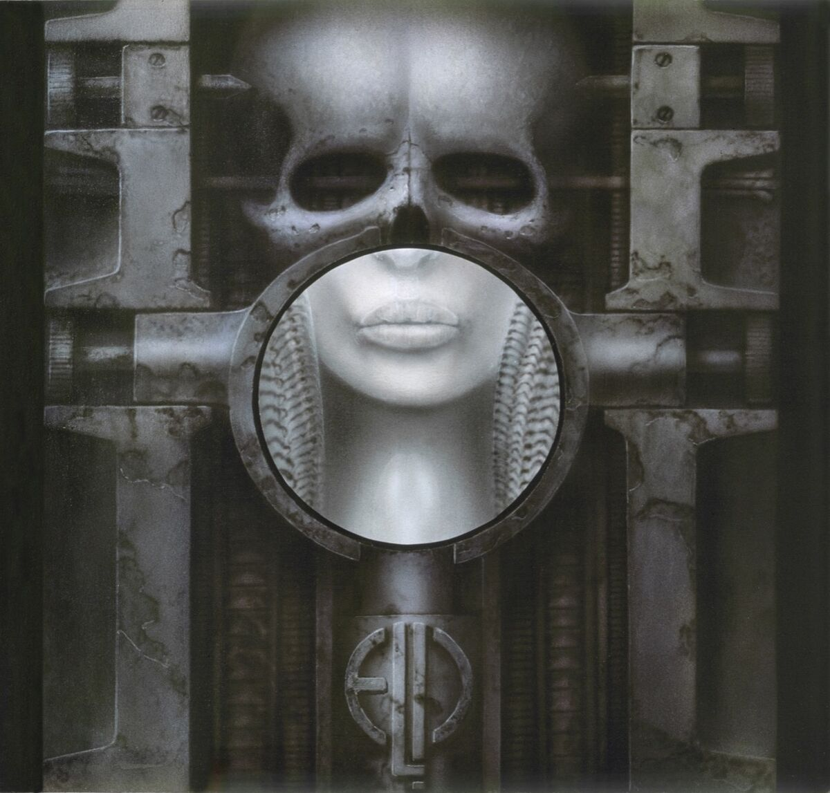 H.R. Giger, ELP II (Brain Salad Surgery), 1973. Courtesy of the H.R. Giger Museum.
