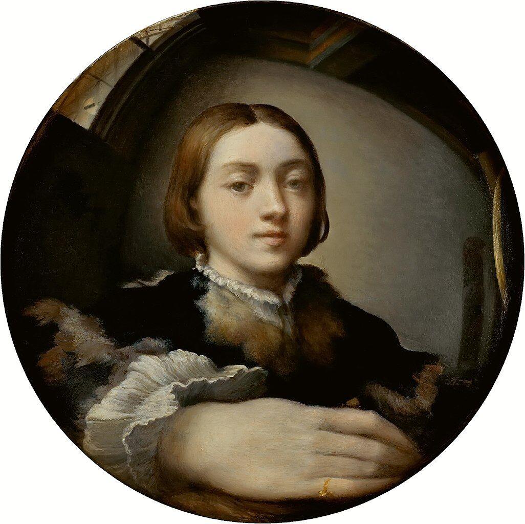 Francesco Parmigianino, Self-portrait in a Convex Mirror, 1524. Image via Wikimedia Commons.