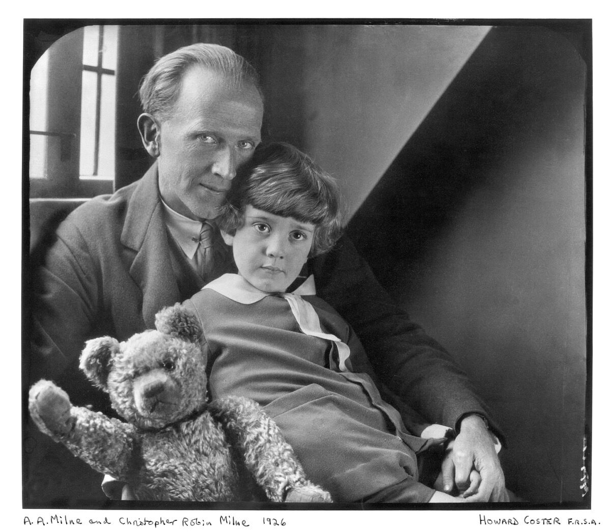 Howard Coster, A.A. Milne; Christopher robin Milne and Pooh Bear, 1926. © National Portrait Gallery, London.