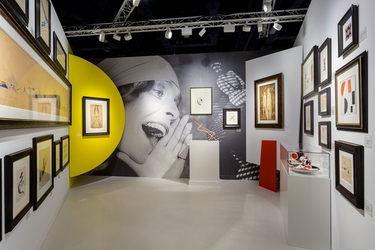 Installation view of Galerie Gmurzynska's booth at Art Basel in Miami Beach, 2016. Photo by Alain Almiñana for Artsy.