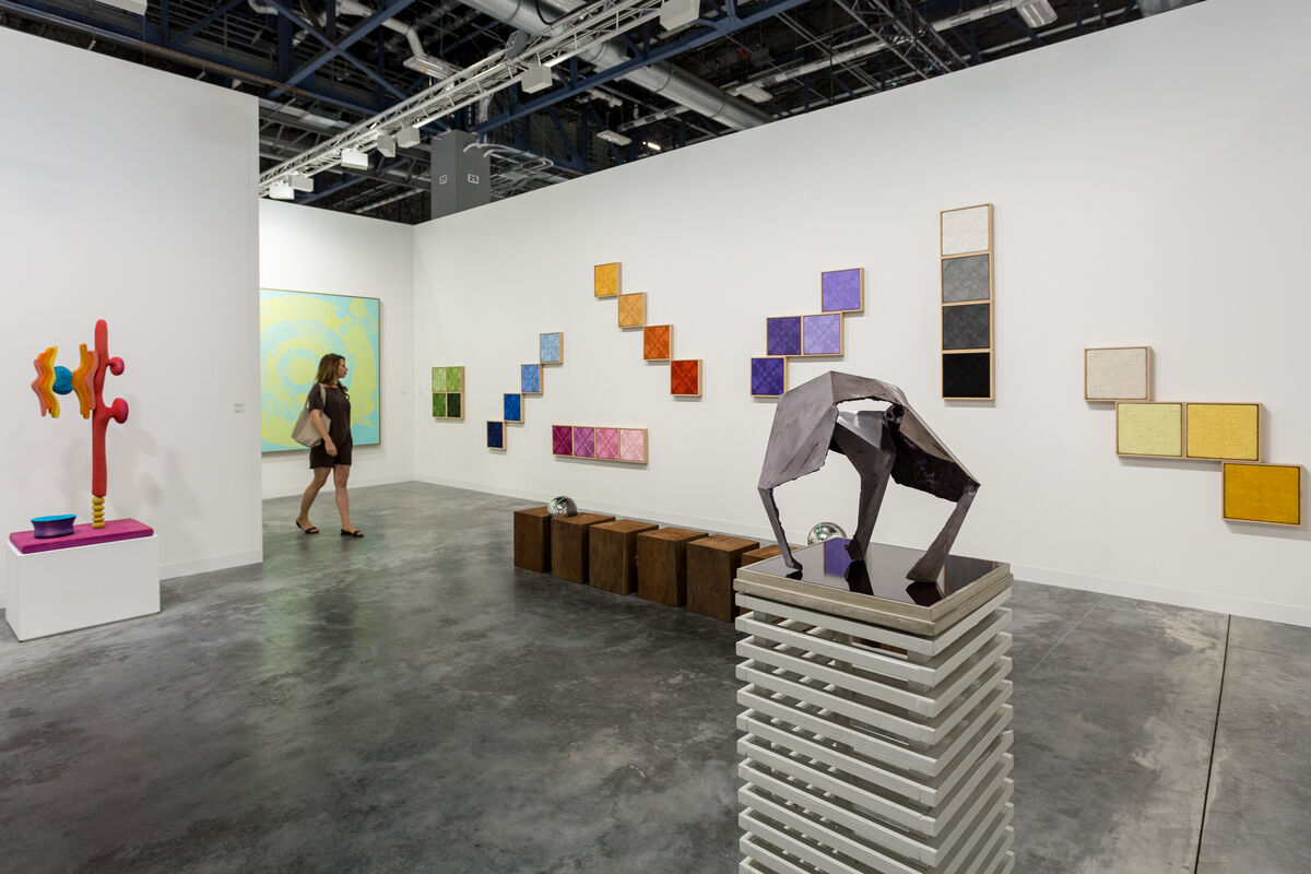 Installation view of Nils Stærk's booth at Art Basel in Miami Beach, 2016. Photo by Alain Almiñana for Artsy.