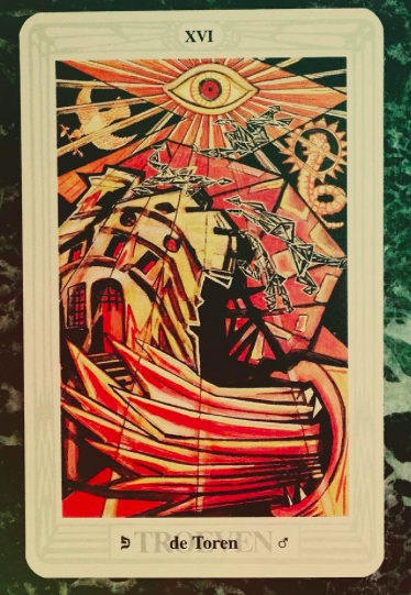 Frida Harris, tarot card from The Thoth deck. Photo by @cugeltje, via Instagram.