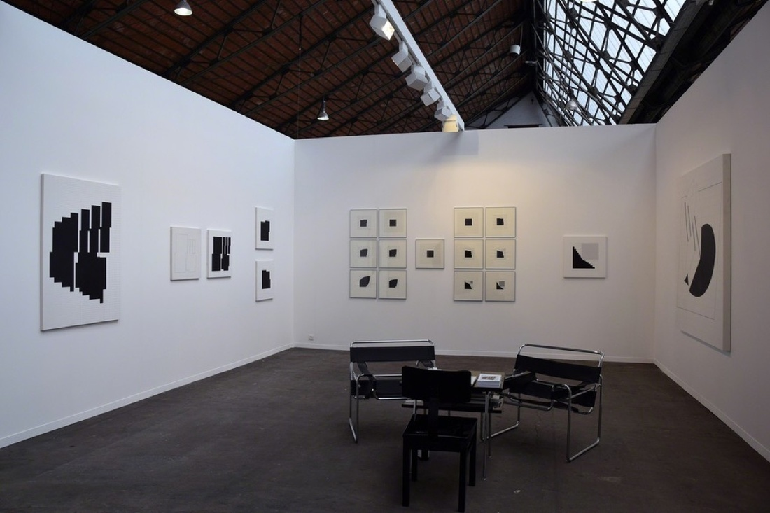 Installation view of Attila Kovacs's work on view at VILTIN Gallery's booth at Art Brussels, 2017. Courtesy of VILTIN Gallery.