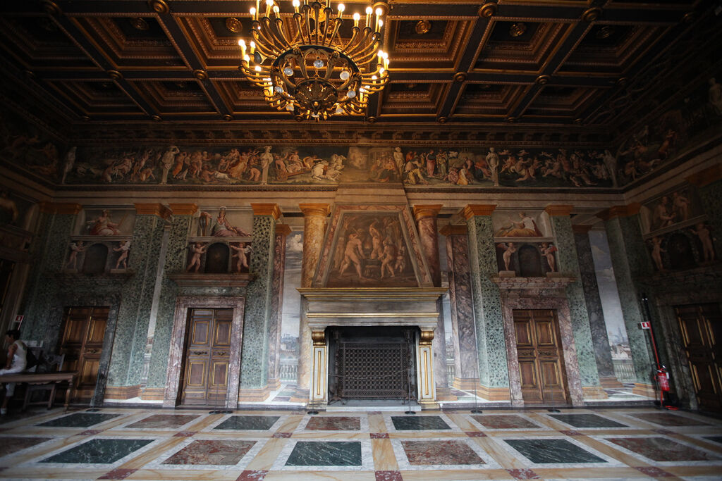 An interior room of Rome's Villa Farnesina. Photo by Silke Baron, via Flickr.
