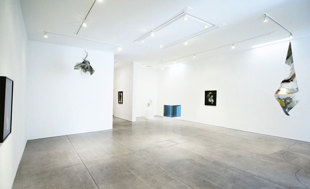 "Installation view of ""Larry Bell"" at Peter Blake Gallery, courtesy Peter Blake Gallery."