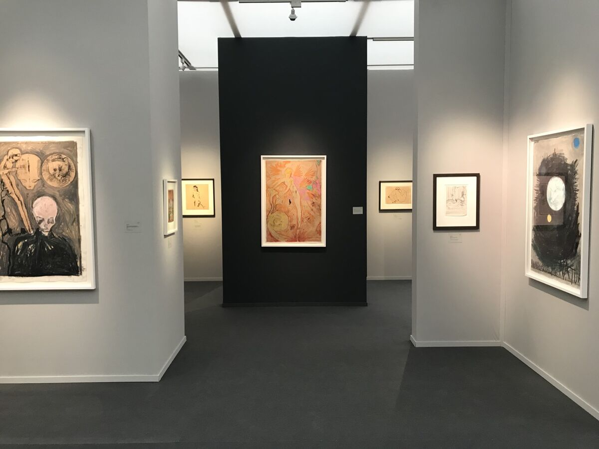 Installation view of Wienerroither Kohlbacher Galerie's booth at Frieze Masters, 2018. Courtesy of the gallery.