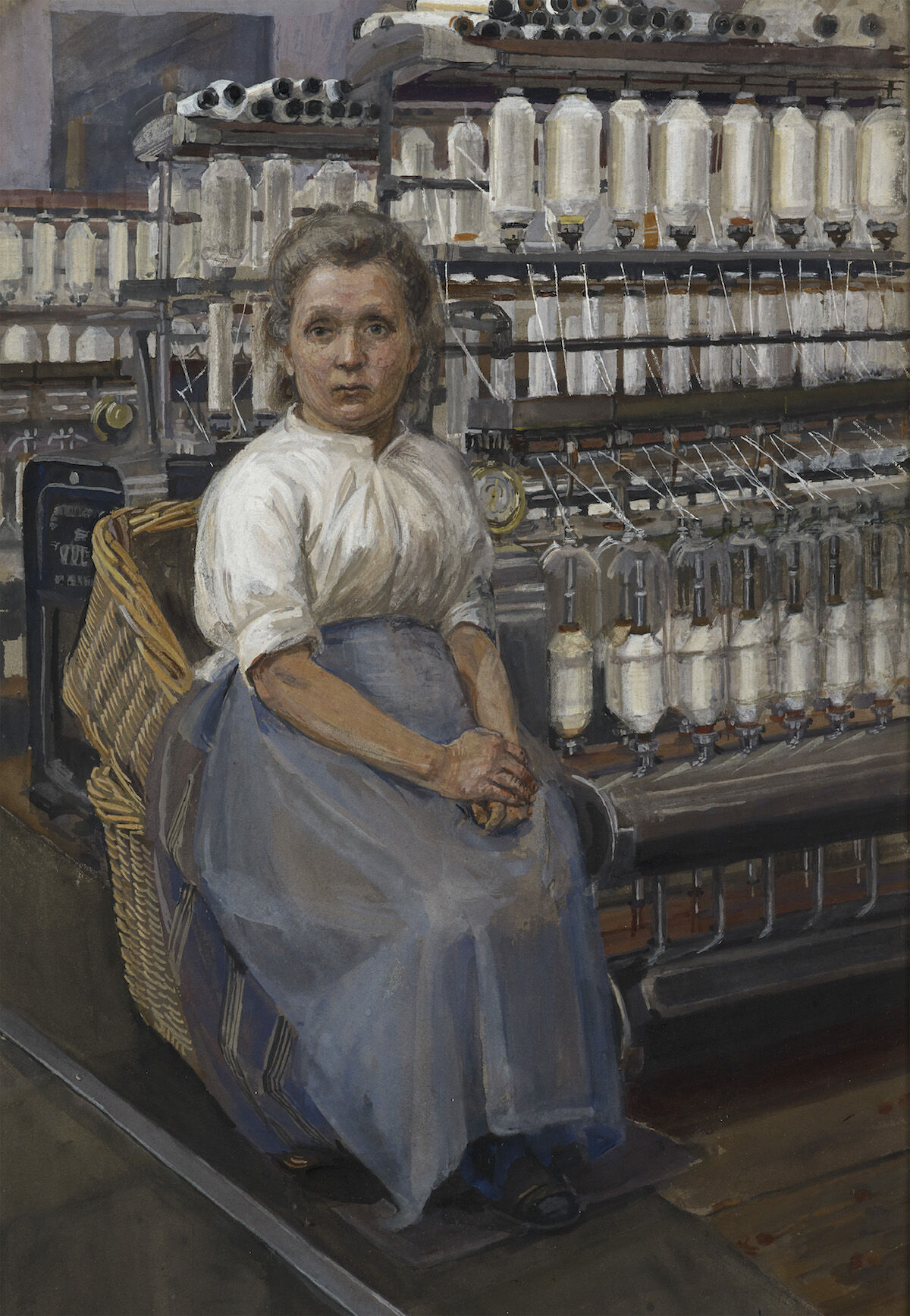 Sylvia Pankhurst, In a Glasgow Cotton Mill: Minding a Pair of Fine Frames, 1907. Courtesy Tate Britain.