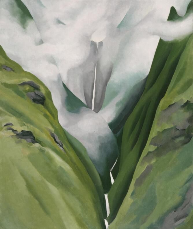 Georgia O'Keeffe, Waterfall—No. III— 'Iao Valley, 1939. Honolulu Museum of Art.