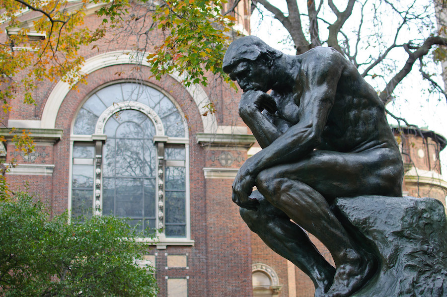 Copy of Auguste Rodin's Le Penseur at Columbia University. Photo by InSapphoWeTrust via Wikimedia Commons.