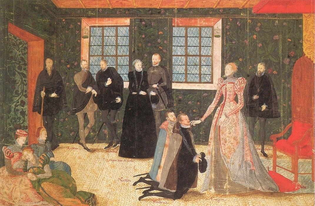 Levina Teerlinc, Queen Elizabeth and the Ambassadors, c. 1560.