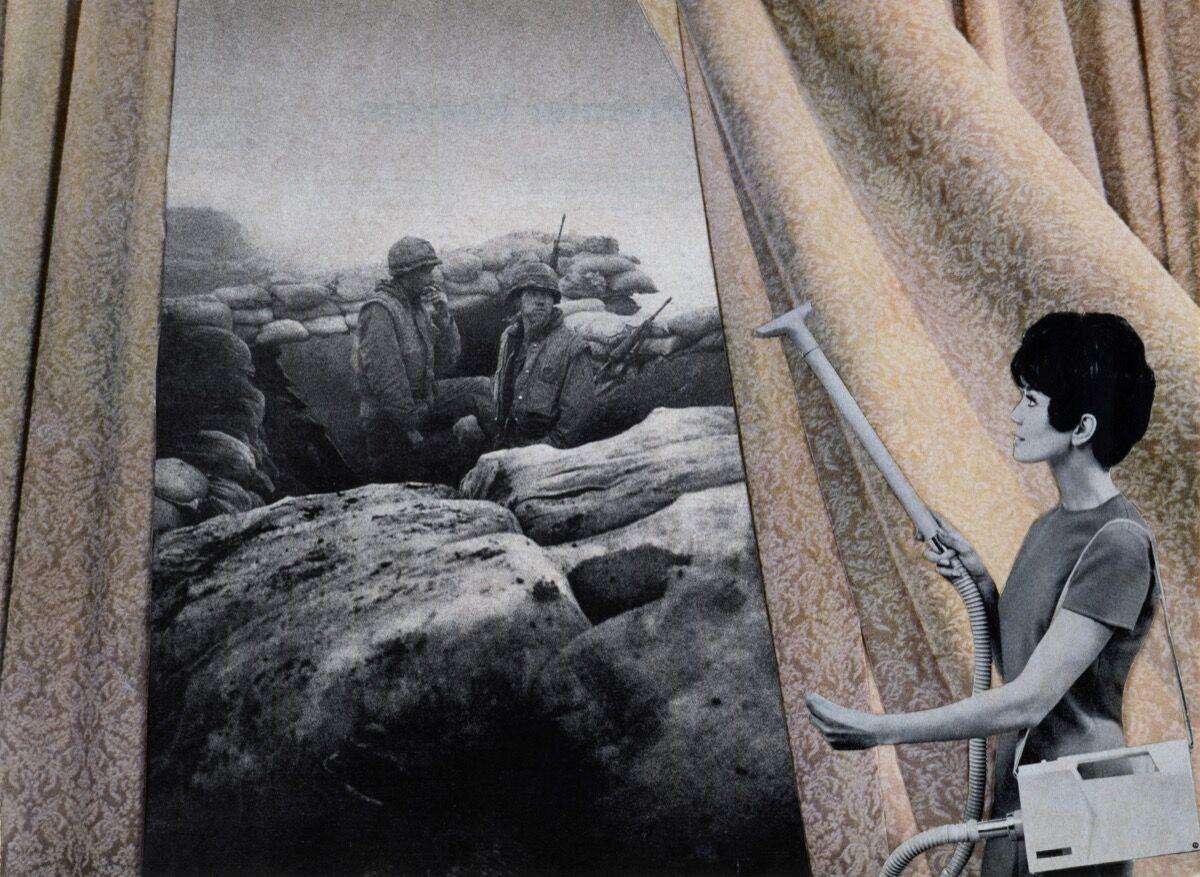 Martha Rosler, Cleaning the Drapes, 1967-72. © Martha Rosler. Courtesy of the artist, Nagel Draxler Berlin / Cologne, Mitchell Innes & Nash / New York.