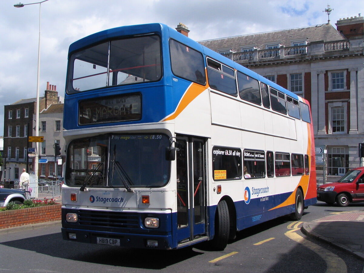 A Stagecoach bus in Margate. Photo by megabus13601, via Wikimedia Commons.