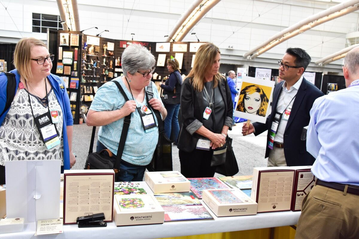 Buyers at the Museum Store Association Annual Expo. Courtesy of the Museum Store Association.