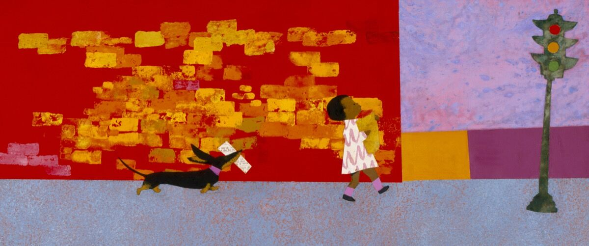 Illustration from Ezra Jack Keats's Whistle for Willie, 1964. Courtesy of the Ezra Jack Keats Foundation.