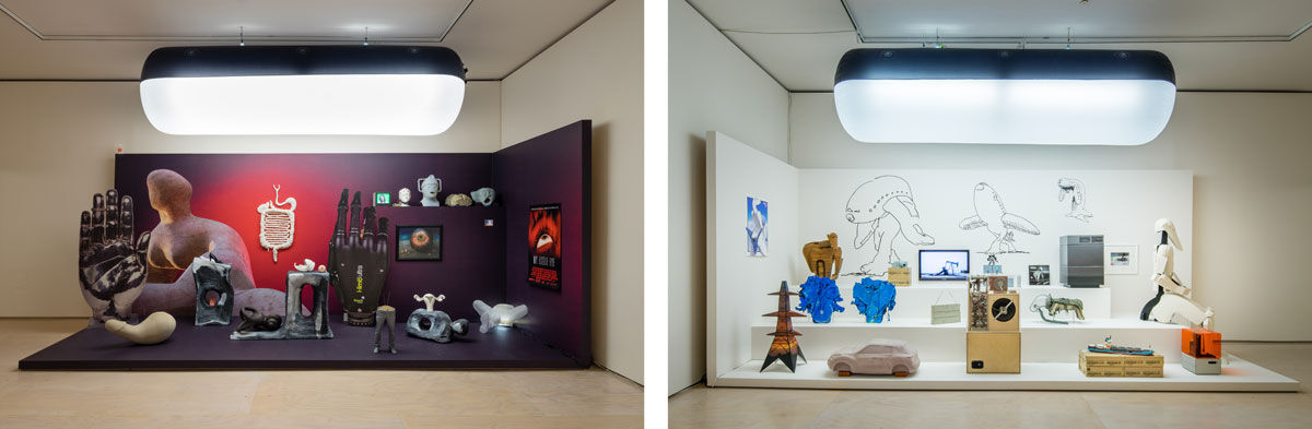 Installation views of Mark Lecky,UniAddDumThs, 2016, at MoMA PS1. Photograph by Pablo Enriquez, courtesy of the artist and MoMA PS1.